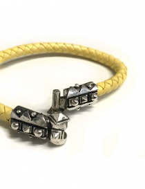 Elf Craft Sparks silver and yellow leather bracelet