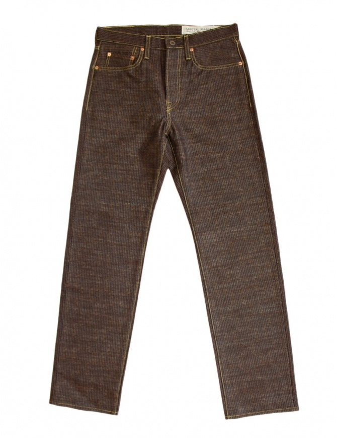 Kapital Kap-71 brown and blue jeans KAP-71 BROWN PANTS mens jeans online shopping