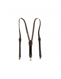 Belts online: Kapital brown leather suspenders
