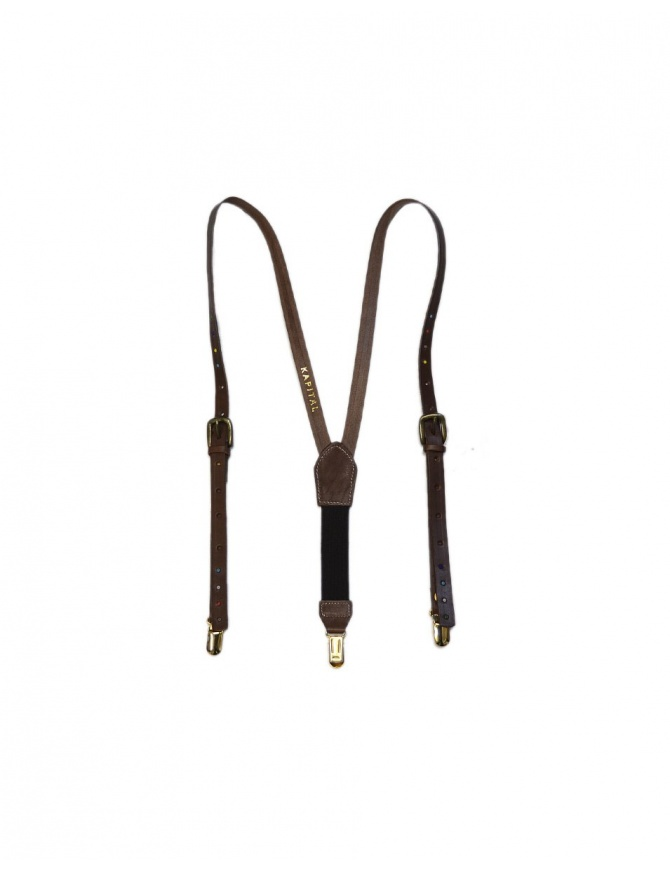 Bretelle Kapital in pelle marrone K1709XG561 BROWN SUSPENDER cinture online shopping