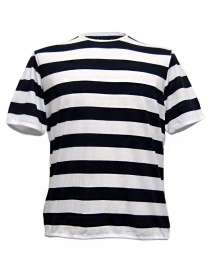 Mens t shirts online: Camo Dr. Fager navy white stripes t-shirt