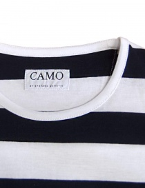 T-shirt Camo Dr. Fager a righe navy bianco prezzo
