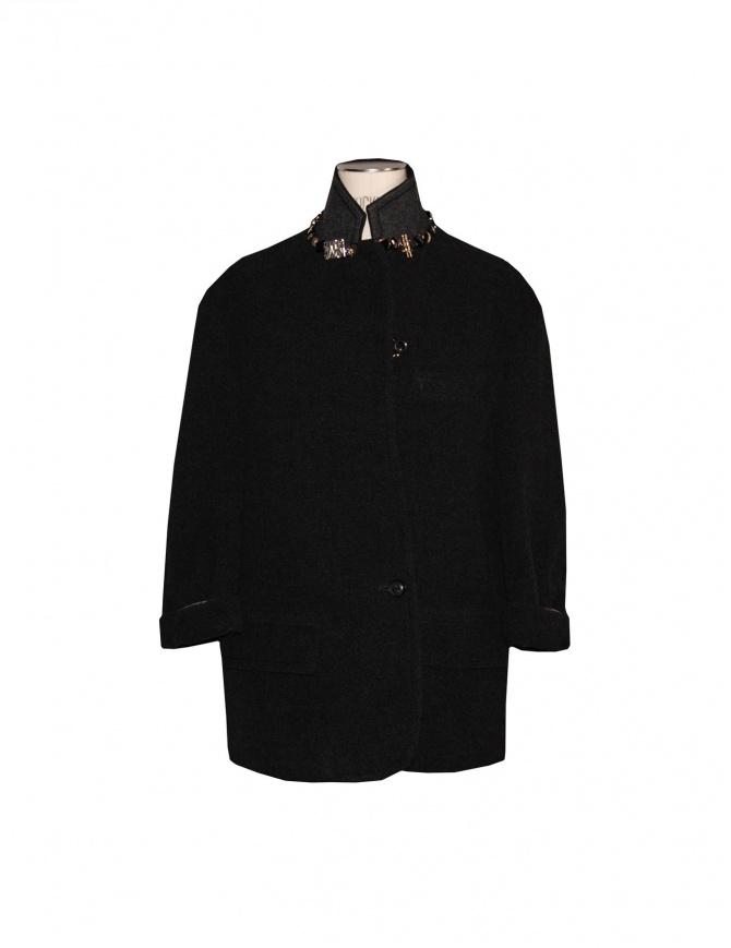 Cappotto kolor colore nero J01101 A cappotti donna online shopping