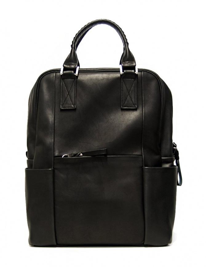 Zaino Cornelian Taurus by Daisuke Iwanaga in pelle nera 18SSCR010-BLACK borse online shopping