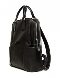 Cornelian Taurus by Daisuke Iwanaga black leather backpack