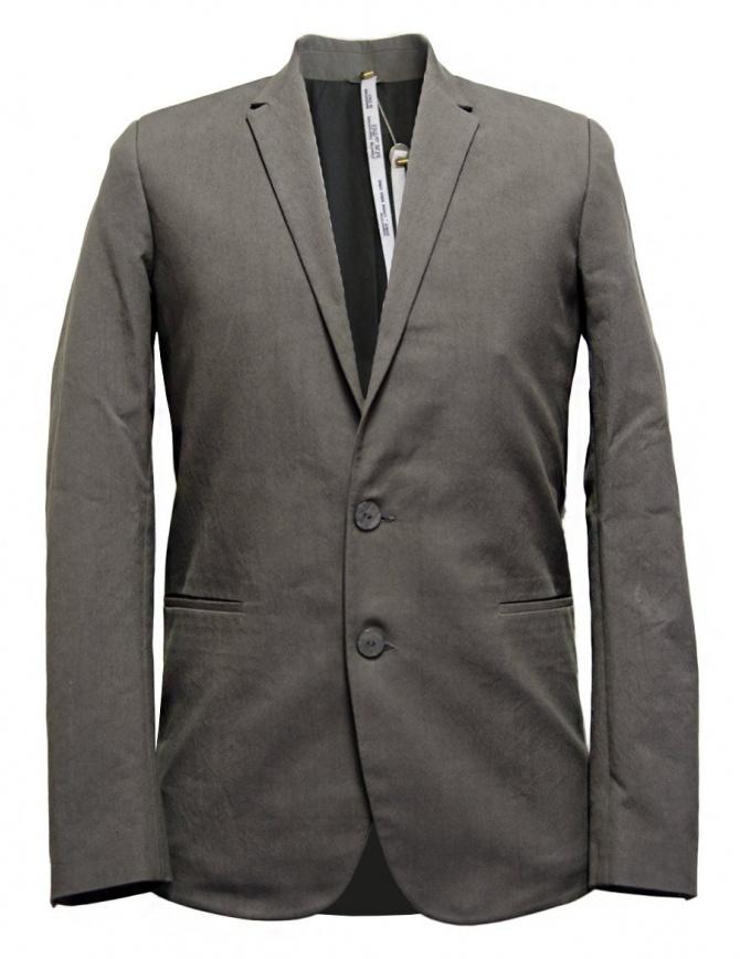 Label Under Construction Formal grey blazer 31FMJC96-CO198B-31M mens suit jackets online shopping