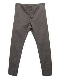 Mens trousers online: Label Under Construction One Cut grey trousers