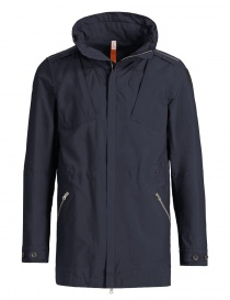 Mens jackets online: Parajumpers Inasa blue black parka jacket