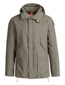 Mens jackets online: Parajumpers Ryan grey green jacket