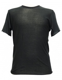 Mens t shirts online: Label Under Construction Parabolic Zip Seam grey t-shirt