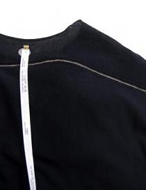 T-shirt Label Under Construction Parabolic Zip Seam colore navy prezzo