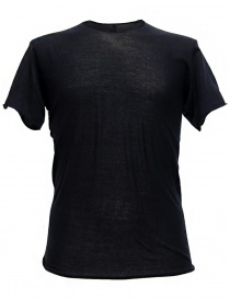 T shirt uomo online: T-shirt Label Under Construction Parabolic Zip Seam colore navy