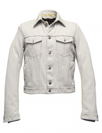 Mens jackets online: Carol Christian Poell JM2568 In-Between denim short jacket