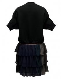 Kolor black dress with K embrodery buy online