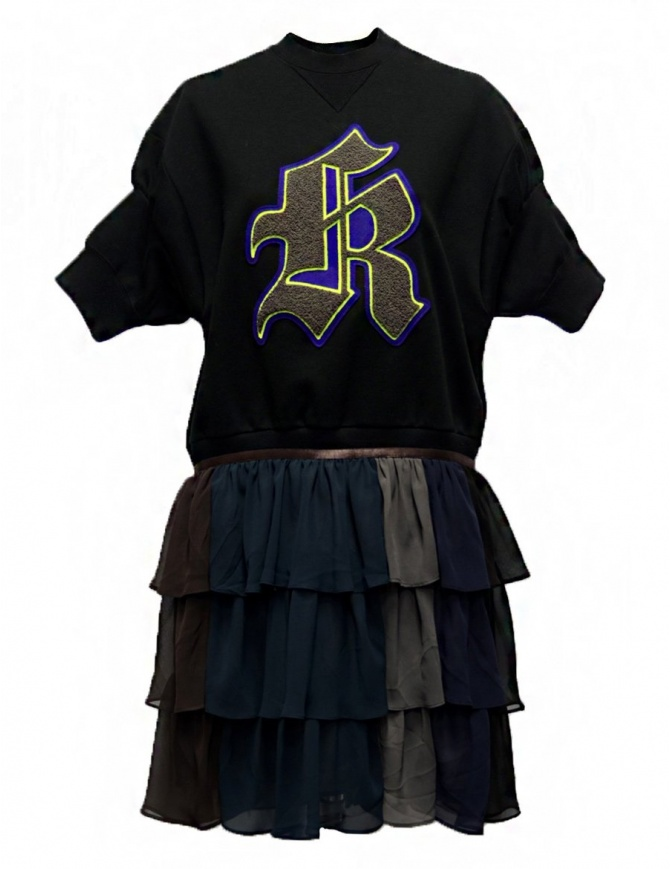 Abito Kolor in felpa nero con K ricamata 18SPL-O04222 BLACK abiti donna online shopping