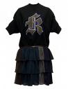 Kolor black fleece dress with K embrodery buy online 18SPL-O04222 BLACK