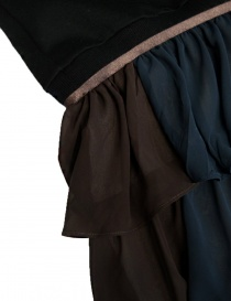 Kolor black fleece dress with K embrodery price