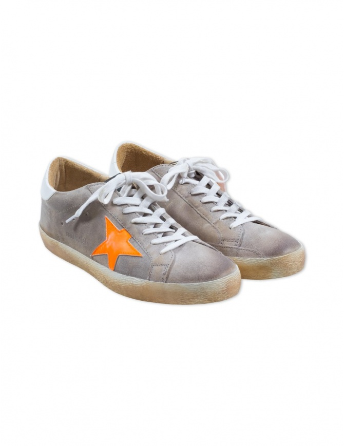 Sneaker Golden Goose Superstar colore light grey G32MS590.F10 LIGHT GREY