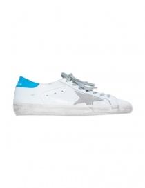 Sneaker Golden Goose Superstar colore bianco e blu ghiaccio prezzo