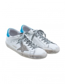 Golden Goose Superstar sneaker in white and ice blue G32WS590.E84 WHITE BLUE order online