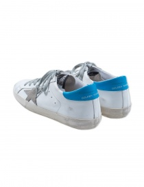 Golden Goose Superstar sneaker in white and ice blue