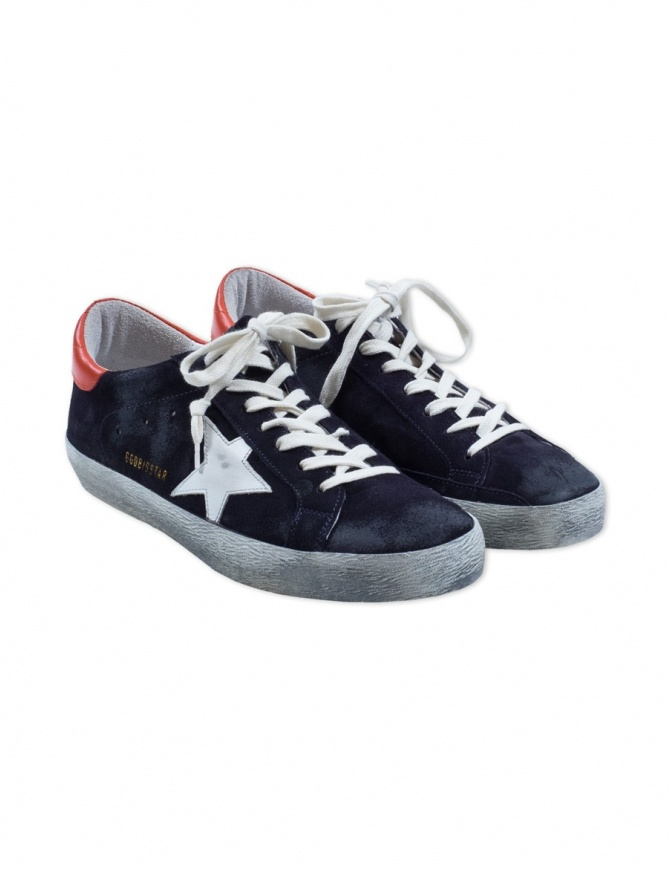 Golden Goose Superstar Sneakers blu scuro G32MS590.E99 calzature uomo online shopping