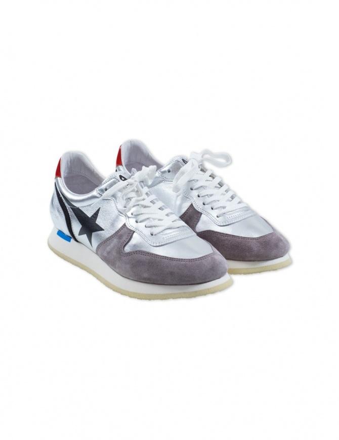 Sneaker Golden Goose Haus Swan Argento H32WS363.B8 calzature uomo online shopping