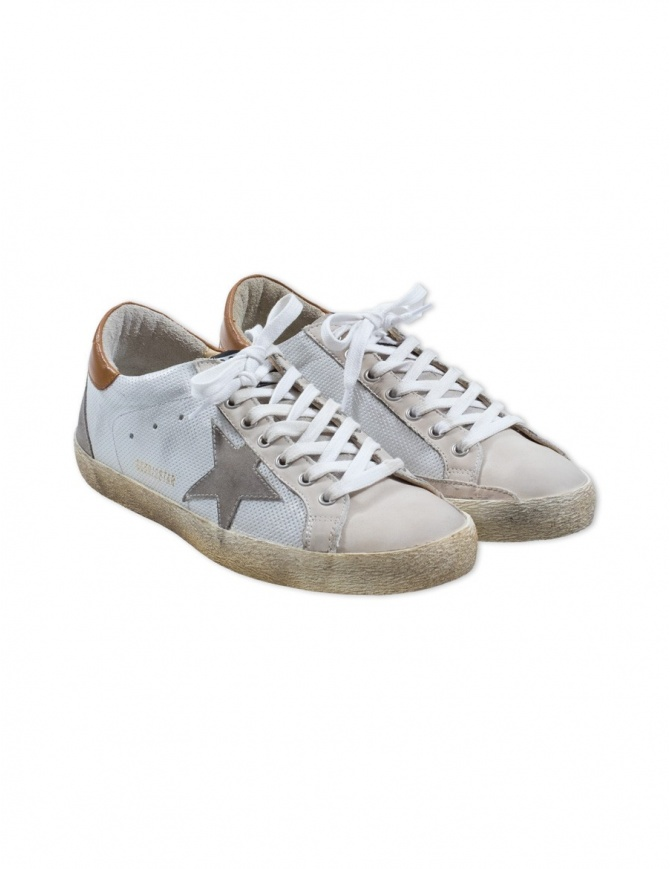 White Golden Goose Superstar Sneakers G32MS590.E98 mens shoes online shopping
