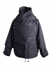 Mens coats online: Kapital Kamakura Black and Grey Jacket