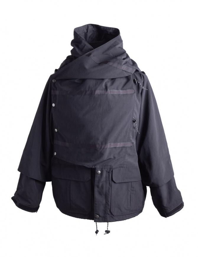 Giacca Kapital Kamakura nera e grigia K1803LJ002 BLACK BLOUSON cappotti uomo online shopping