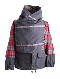 Cappotti uomo online: Giacca Kapital Kamakura Nera e Rossa