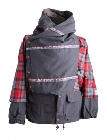 Mens coats online: Kapital Kamakura Red and Black Jacket