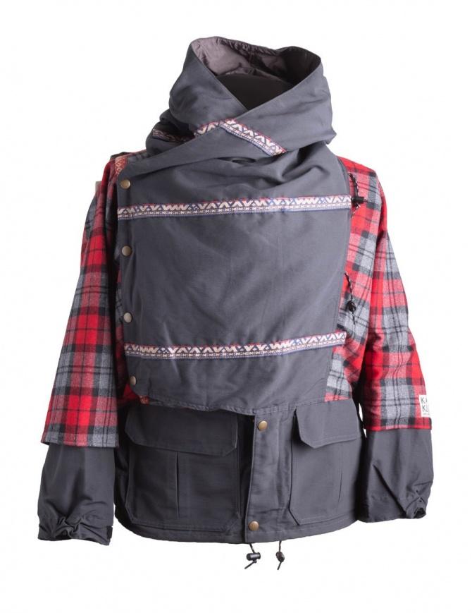 Giacca Kapital Kamakura Nera e Rossa K1711LJ216 RED PARKA cappotti uomo online shopping