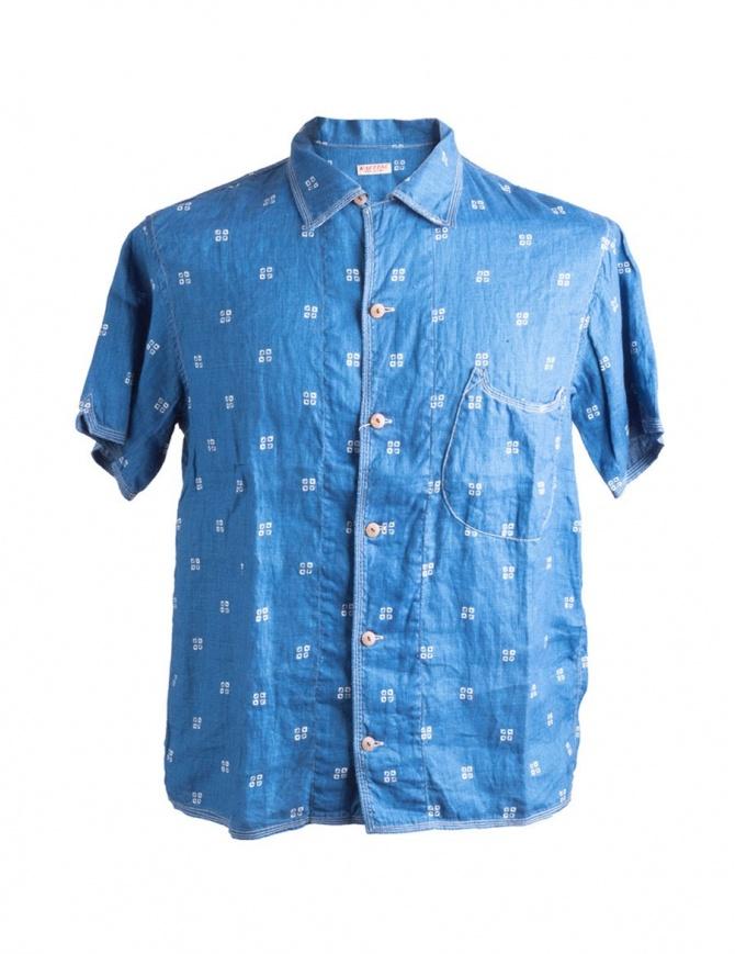 Camicia Blu Kapital K1506SS190 K1506SS190 IDG camicie uomo online shopping