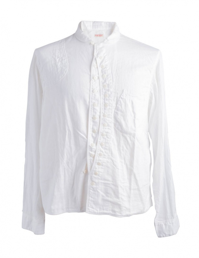 Camicia Bianca Kapital Maniche Lunghe K1509LS8 K1509LS8 WHITE camicie uomo online shopping