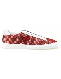 BePositive Sneakers white Oxigen model with red net 8SARIA06-NET-RED