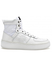 Calzature donna online: Sneakers alta BePositive Full White (donna)