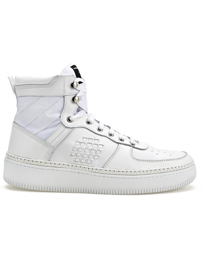 BePositive High Sneakers Full White (woman) 8SWOSUONO01-LEA-WHI womens shoes online shopping