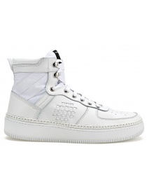 BePositive High Full White Sneakers (man) 8SSUONO01-LEA-WHI