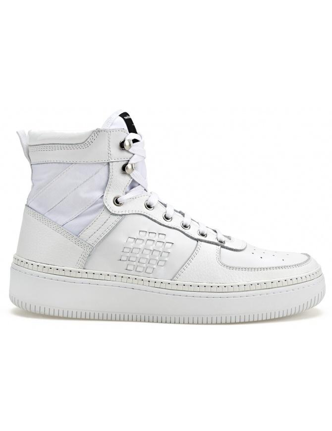 Sneaker alta BePositive full white (uomo) 8SSUONO01-LEA-WHI calzature uomo online shopping