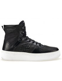 Calzature donna online: Sneaker alta BePositive Nera con Suola Bianca (donna)