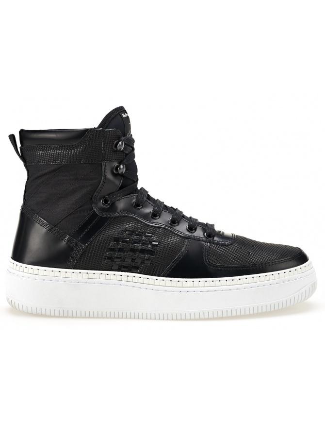 Sneaker alta BePositive Nera con Suola Bianca (donna) 8SWOSUONO01-LEA-BLK-WHI calzature donna online shopping