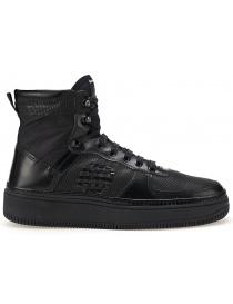 Sneaker alta BePositve Full Black (donna) 8SWOSUONO01-LEA-BLK