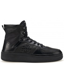 BePositive High Full Black Sneakers (man) online