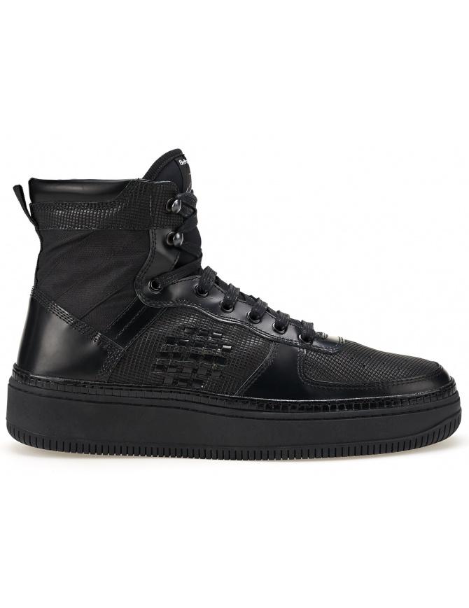 Sneaker Alta BePositive Full Black (man) 8SSUONO01-LEA-BLK calzature uomo online shopping