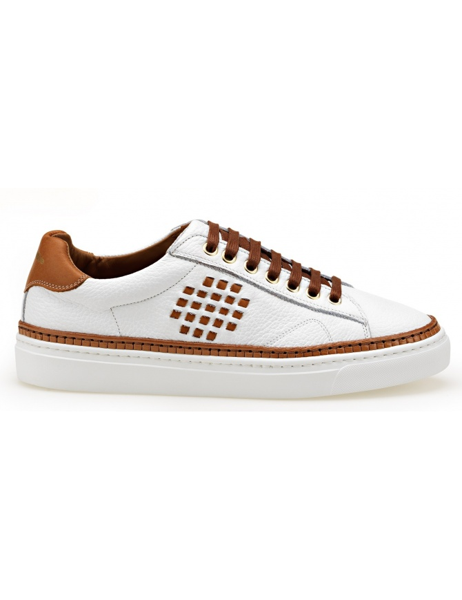 BePositive Anniversary white and camel sneakers (woman) 8SWOARIA01-TUM-WHITE womens shoes online shopping