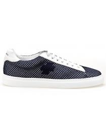 BePositive Sneakers white Oxigen model with navy net 8SARIA06-NET-NAVY order online