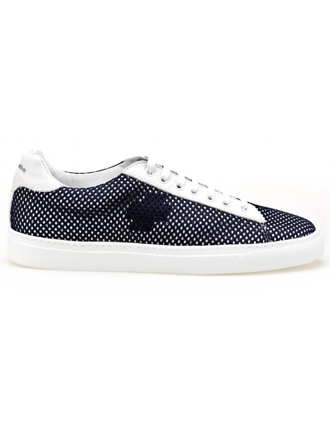 Sneaker BePositive modello Oxigen bianche con rete blu 8SARIA06-NET-NAVY calzature uomo online shopping