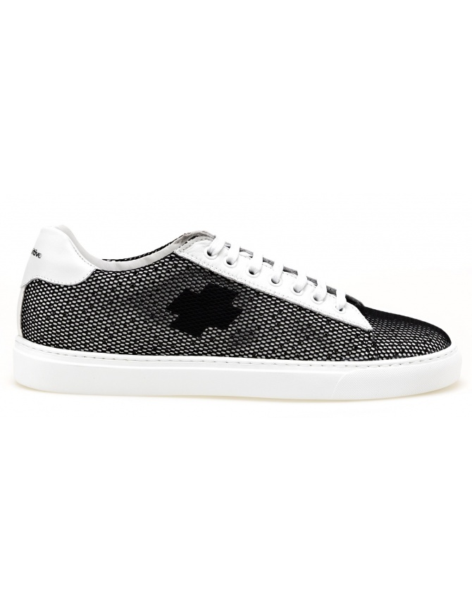 BePositive Sneakers white Oxigen model with black net 8SARIA06-NET-BLK mens shoes online shopping