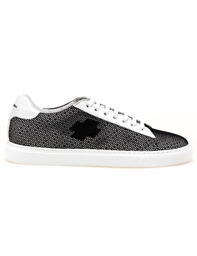 Sneaker BePositive modello Oxigen bianche con rete nera 8SARIA06-NET-BLK calzature uomo online shopping